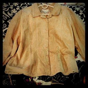 😊 Genuine Leather Soft Jacket Plus Size 😊